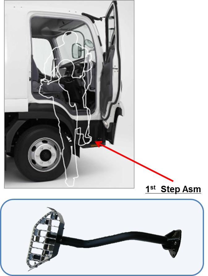 Intake pipe・ Step assy